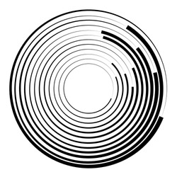 Concentric circles geometric element