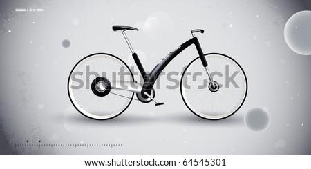 concept bike for urban transportation. product design