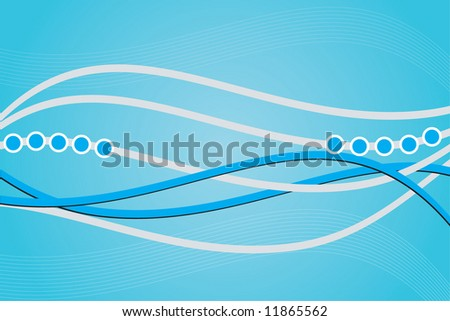 Concept blue background - stock vector