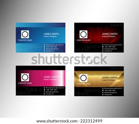 Concept business cards set