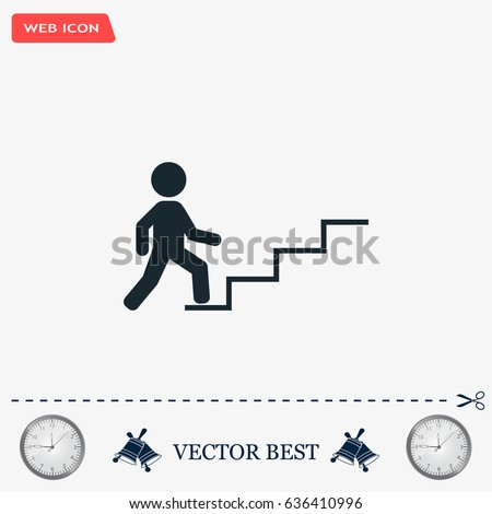 concept  businessman on stair