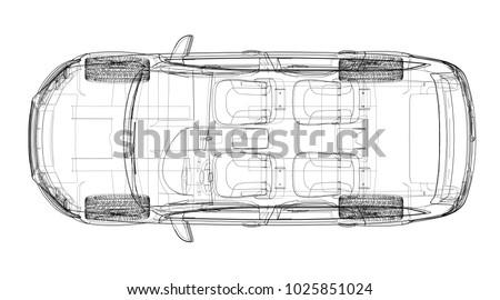 concept car vector rendering
