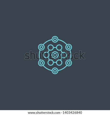 concept concept blue line icon. Simple thin element on dark background. concept concept outline symbol design. Can be used for web and mobile UI/UX