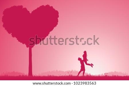 concept couples valentine's day