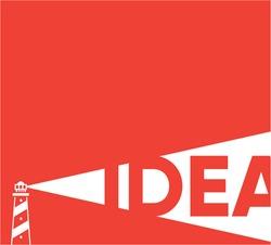Concept creative idea, Lighthouse idea Concept, Flat Style, Thin Line Art Design background
