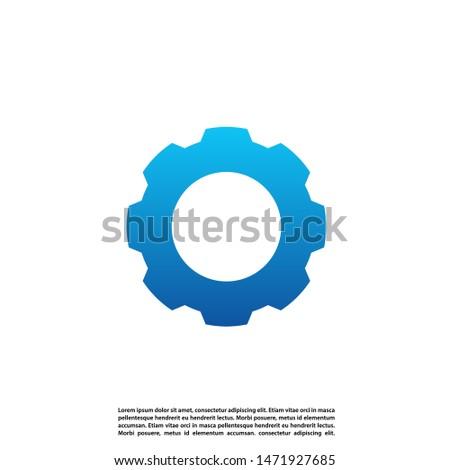 Concept design Gear logo vector. Gear logo template. Vector Illustration
