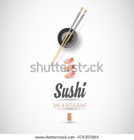 Concept design of the invitation sushi restaurant