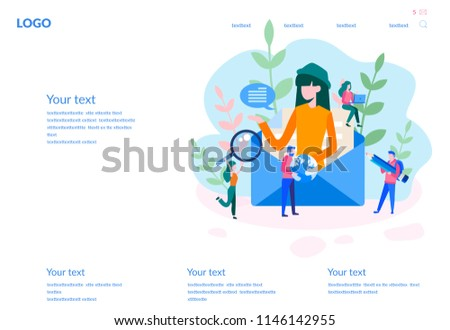 Concept e-mail message, mail notification sending for web page, banner, presentation, social media, documents, cards, posters. a new incoming sms, envelope  Vector illustration, sms.