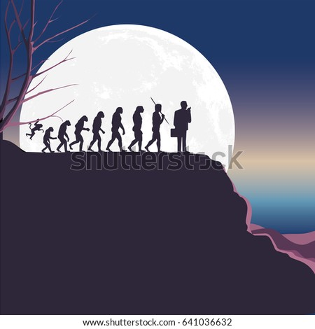 concept human evolution whit