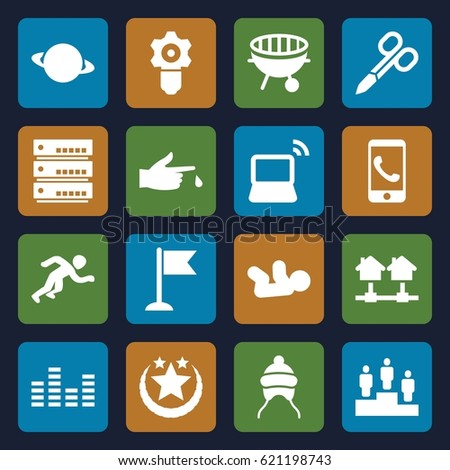 concept icons set set of 16
