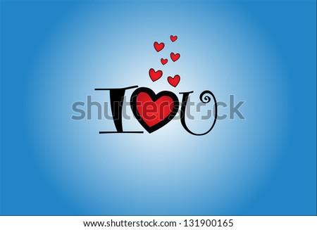 concept illustration of i love