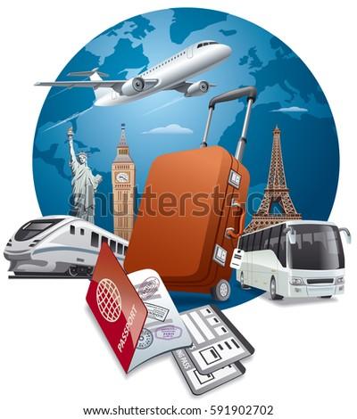concept illustration of travel