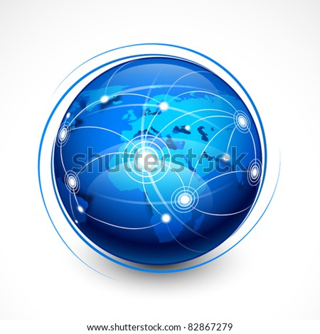 Concept internet communication - stock vector