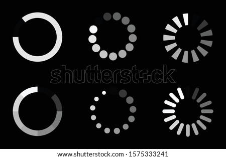Concept loader icon vector circle button. Indicator for the loading process. Foto d'archivio ©
