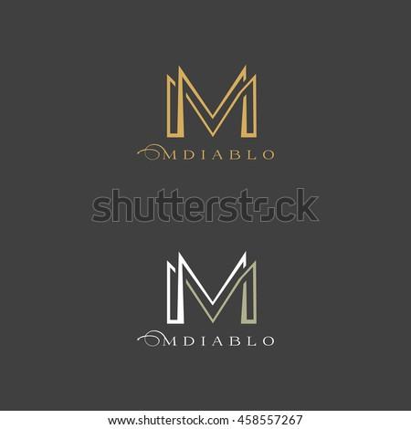 concept logo letter m vector