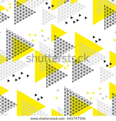 Concept modern style geometry design seamless pattern. vector illustration for header, card, poster, invitation. Tech line grid motif triangle motif.