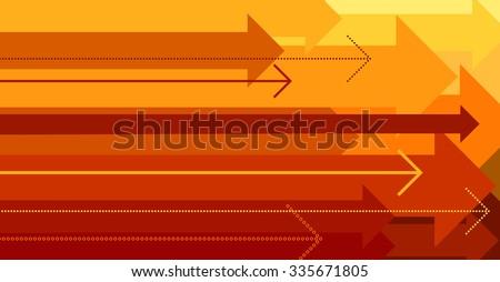 Concept move forward, background arrows, vector