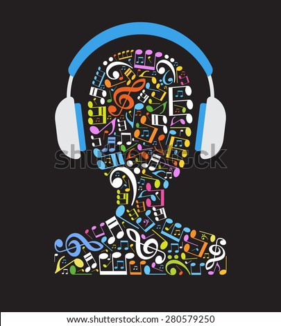 concept music music note in