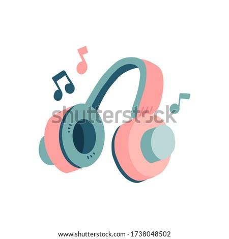 concept music retro headphones