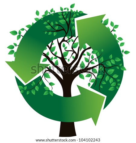 concept of an ecological theme, vector image
