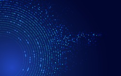 concept of big data or digital transformation technology