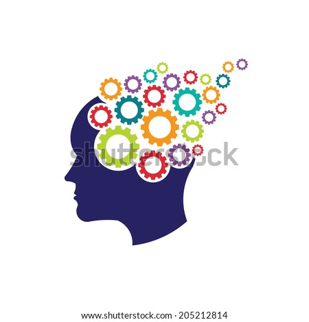 concept of brain with gears