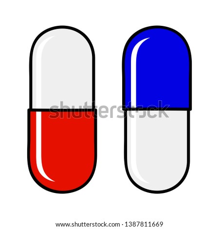 concept of choice red pill blue