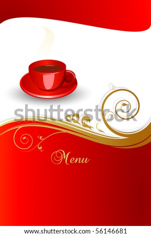 Concept of coffee menu.Vector illustration. JPG available in my gallery.