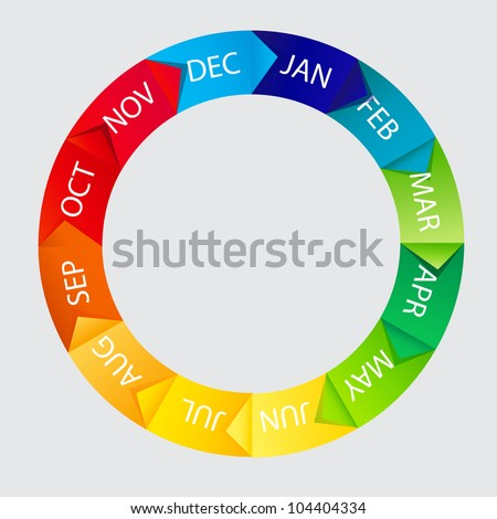 Concept of colorful Time Wheel vector illustration