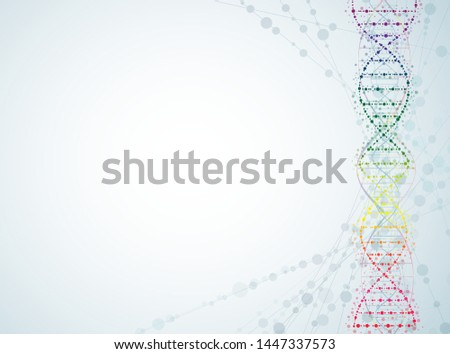 concept of digital molecular dna neuron networks is used as a vector background image.