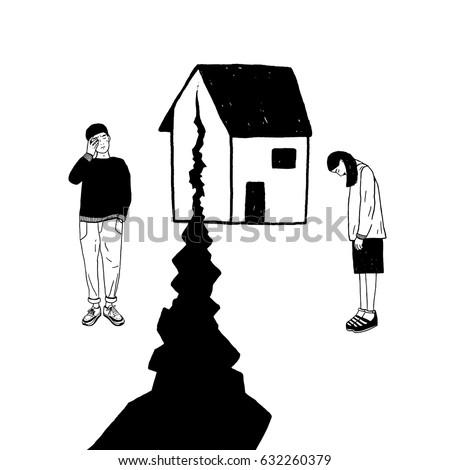 concept of divorce  crack in