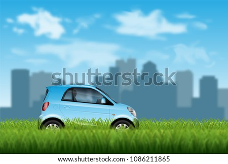 concept of eco friendly car on