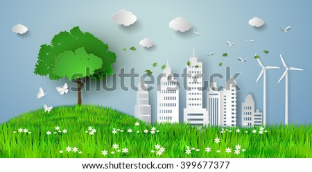 concept of eco with building
