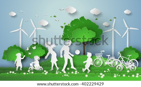 concept of eco with family...