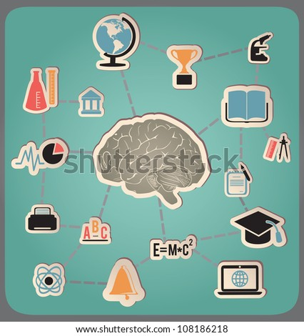 Concept of education and science - vector illustration