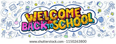 stock-vector-concept-of-education-school-background-with-hand-drawn-school-supplies-and-comic-speech-bubble