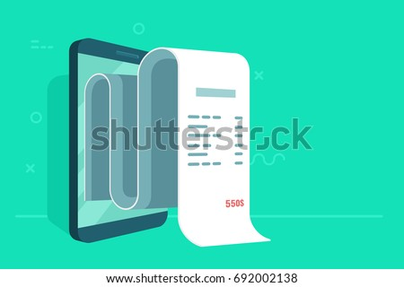 concept of electronic bill and...