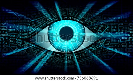 concept of electronic eye in