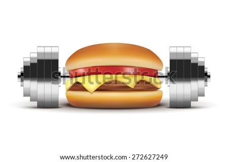 concept of fast food burger