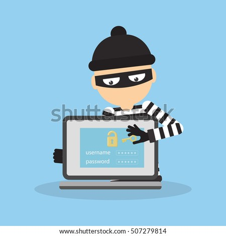 concept of hacking thief