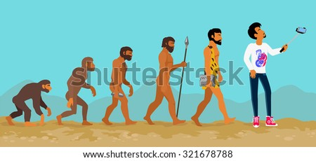 concept of human evolution from