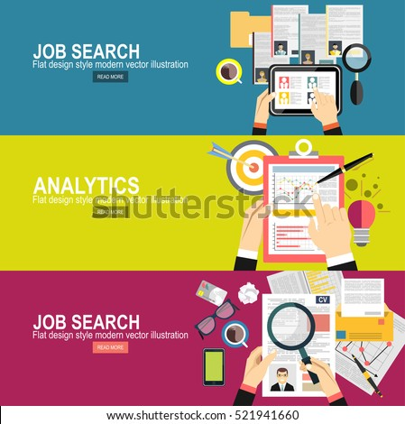 Concept of job searching.business analytic graph report . business investment planning