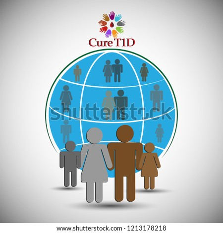 Concept of Juvenile Diabetes- Diabetes mellitus type 1 also known as type 1 diabetes i.e T1D. Illustrates the Concept for cure diabetes, hope to millions with diabetes wishing for cure.