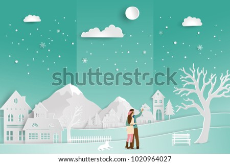 concept of love in winter