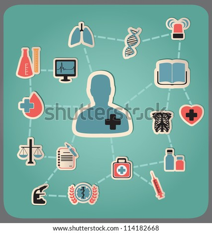 Concept of medicine - vector illustration