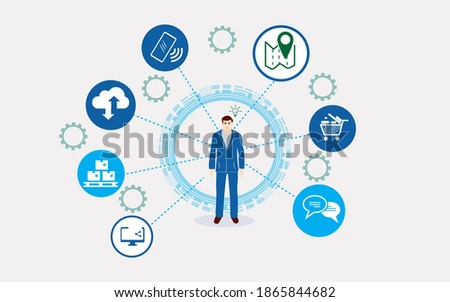 Concept of modern company logistics process Stockfoto ©