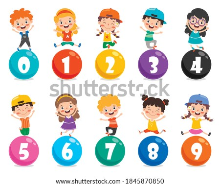Concept Of Multi Colored Numbers Foto stock ©