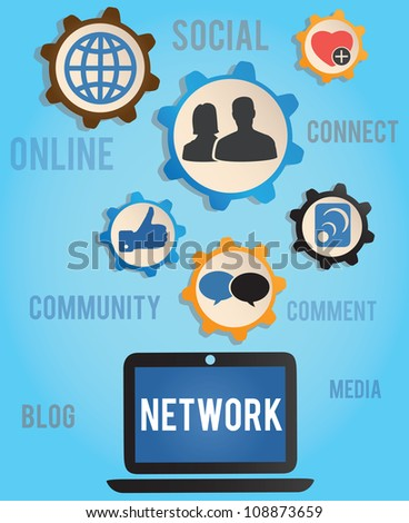 concept of network - vector illustration