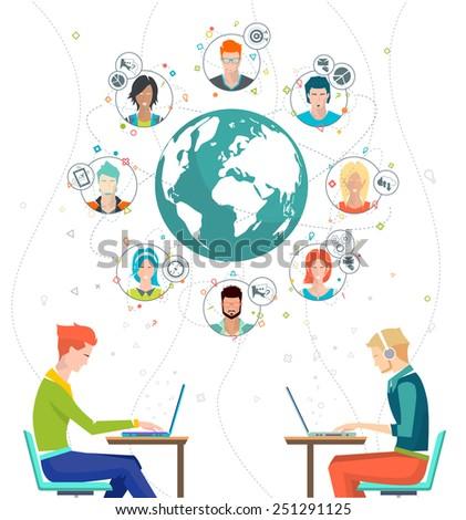 concept of networking between