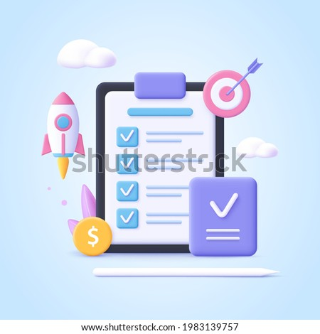 Concept of Project Closure. Project managment, life cycle. 3d vector illustration.